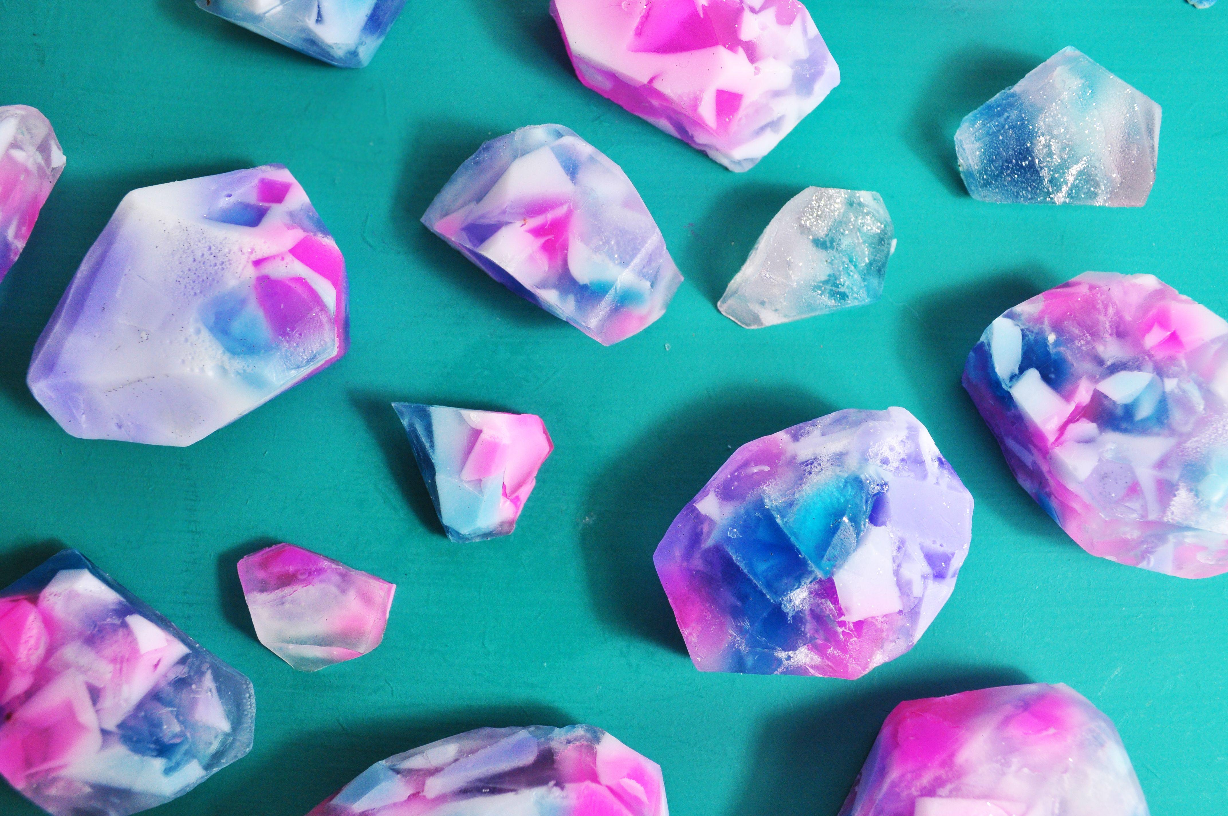 Handmade diy gemstone soap kit with images craft box