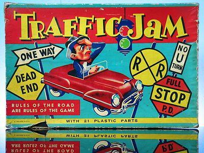 Traffic Jam Board Game Harett Gilmar Race Cars Hard Plastic