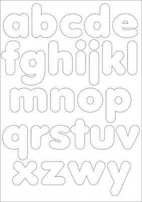 cartamodello: alfabeto per feltro o stoffa (nella valigia della buru