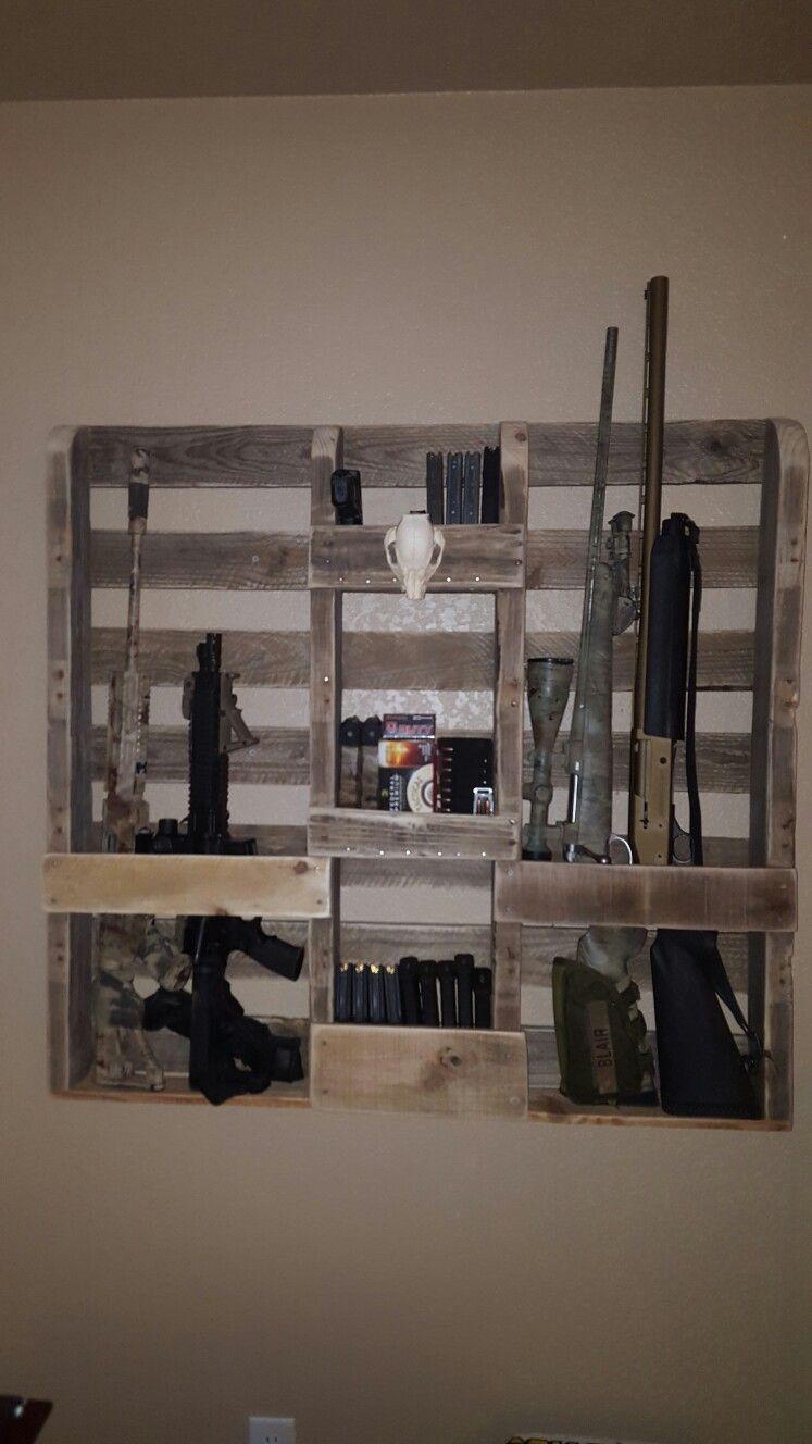 Pallet gun rack …   Pinteres…