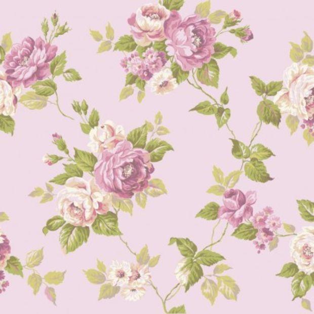 York Wallcovering Ashford House Blooms Garden Rose Trail Wallpaper Ak749 Fondos De Flores Flores Retro Dibujos