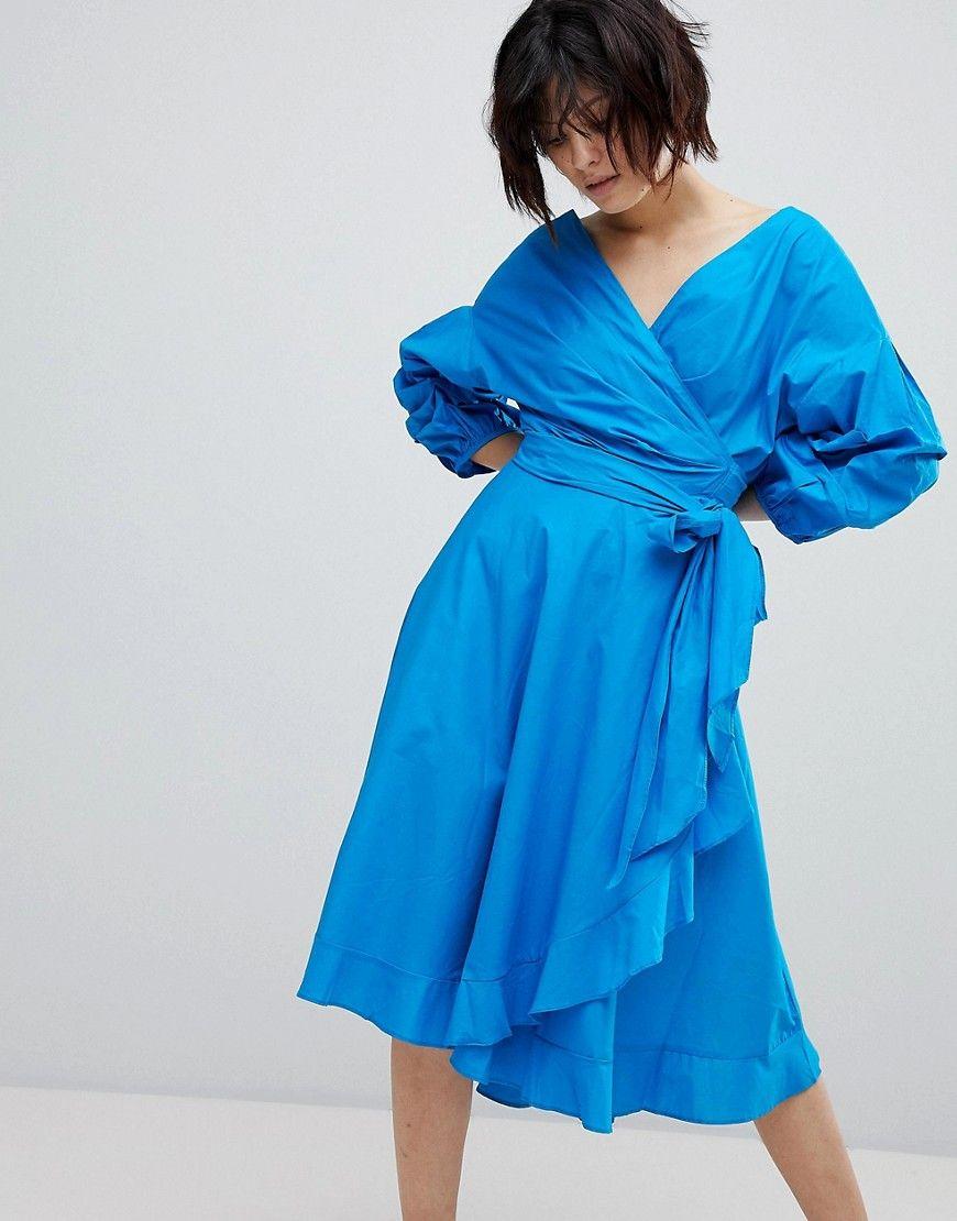 Style Mafia - Extremes Blouson-Kleid - Blau Jetzt bestellen unter ...