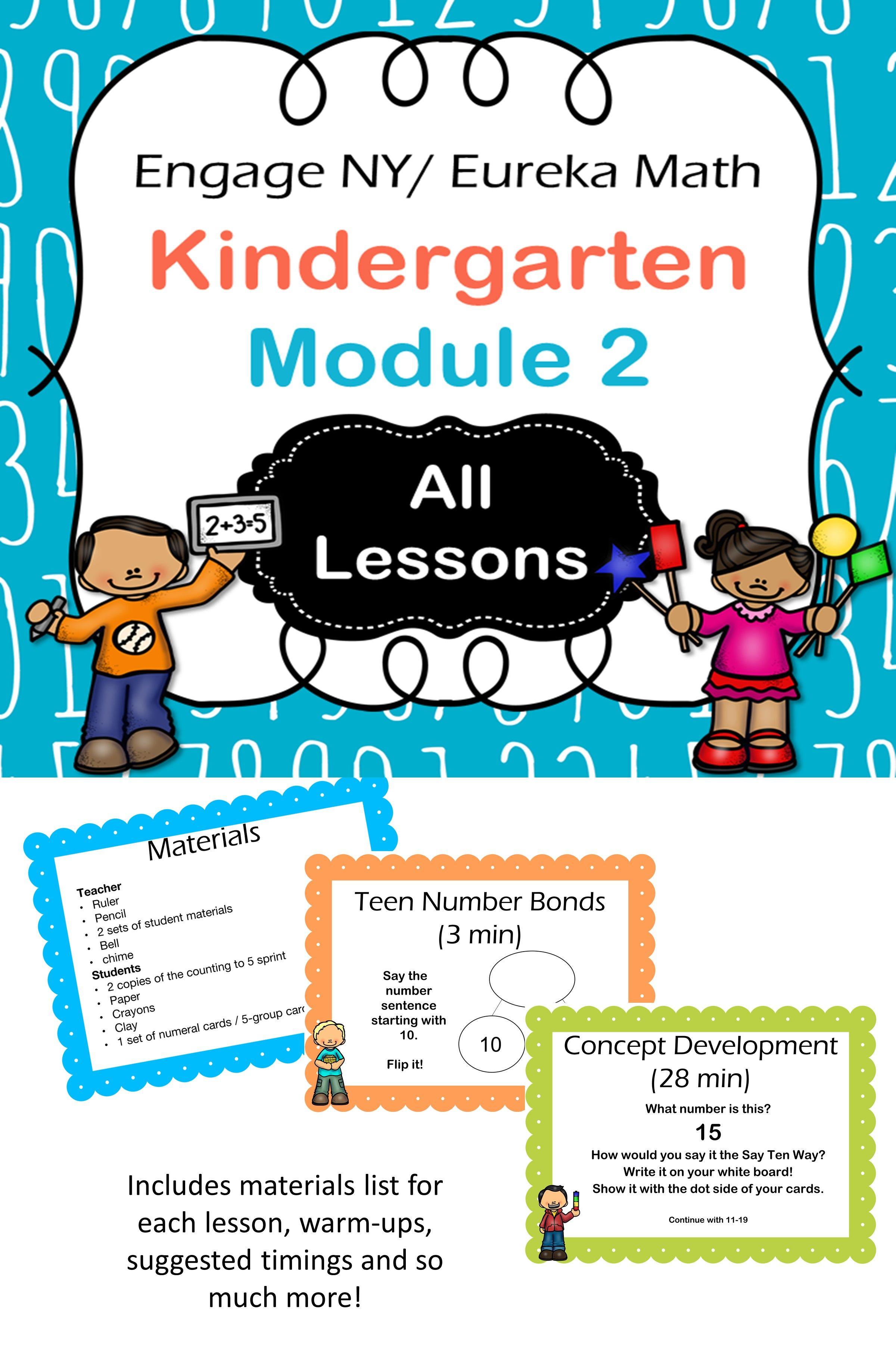 Eureka Math Kindergarten Module 2 Complete Set
