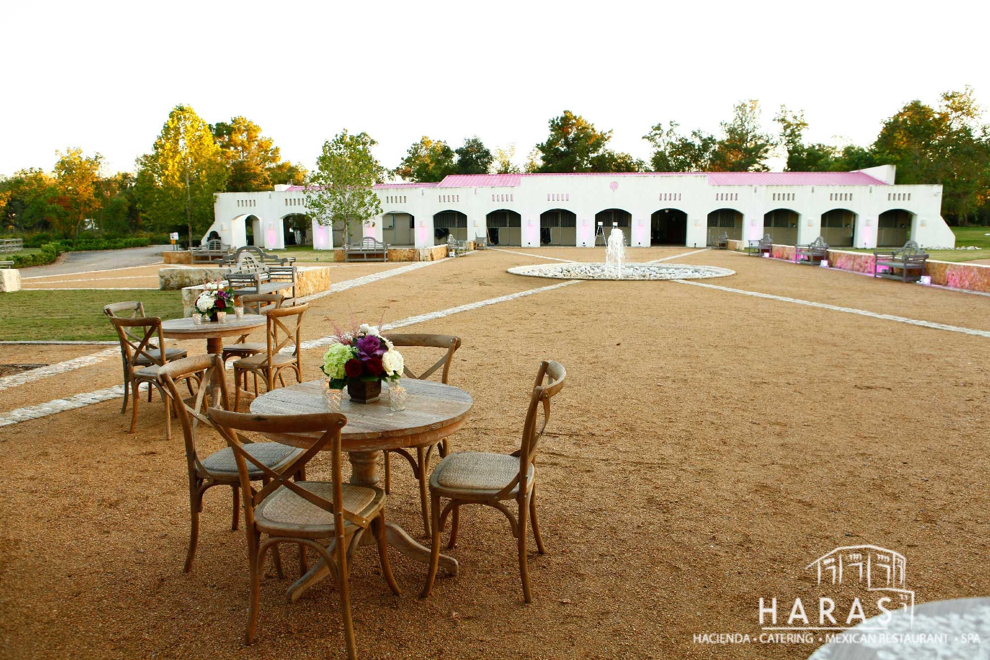Stables at Haras Hacienda Lusitano Horses Texas.