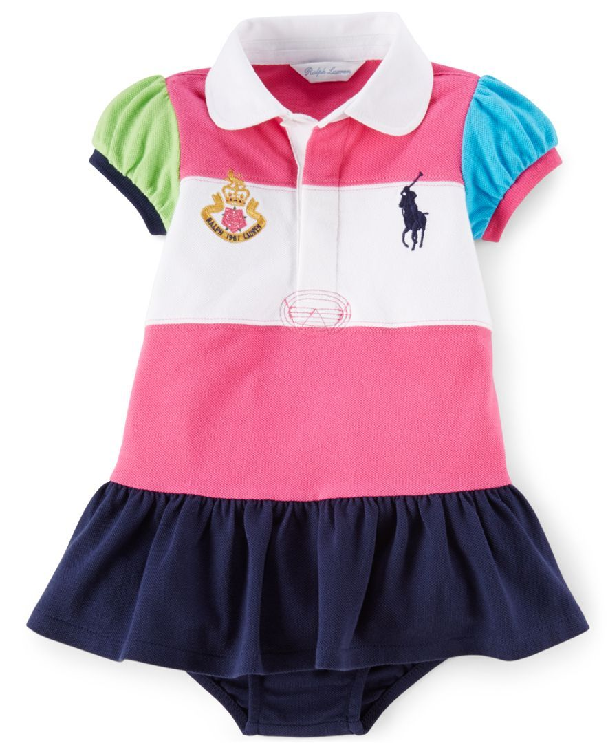 Ralph Lauren Baby Girls\' Colorblocked Polo Dress | Products | Pinterest