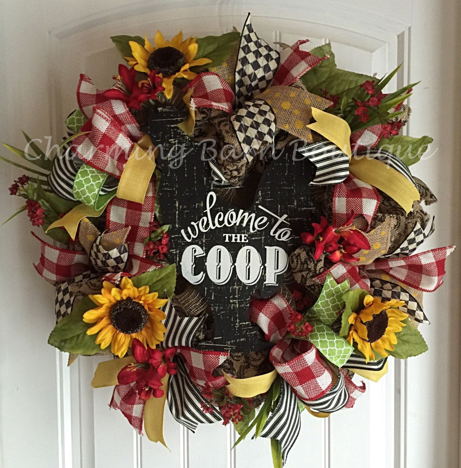 Rooster Kitchen Decor Welcome Wreath Rooster Wreath Welcome To The Coop Kitchen Decor