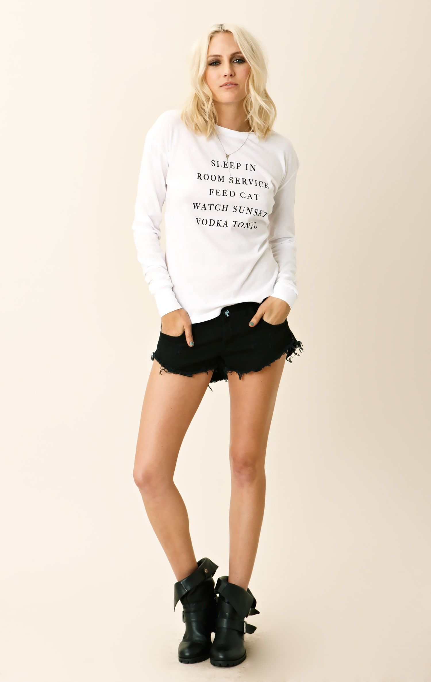Every day long sleeve top wildfox california girl style and mini