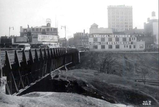 Jersey City History Old Journal Square Hudson Blvd Bridge 1920s Jersey City City New York Skyline