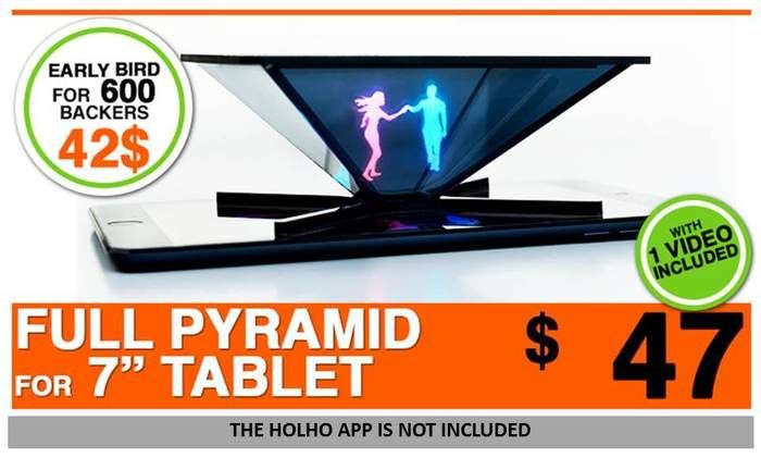 HOLHO - Hologram generator for SMARTPHONE and TABLET by