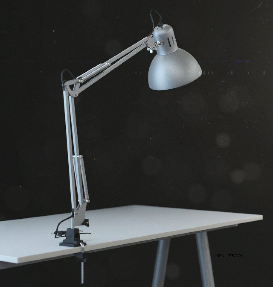 Ikea Tertial Work Lamp 3d Model Ikea Tertial Lamp White Real Size Office Lamp Corona Render V Ray Rendering Visualisation Int Ikea Table Lamp Lamp Work Lamp