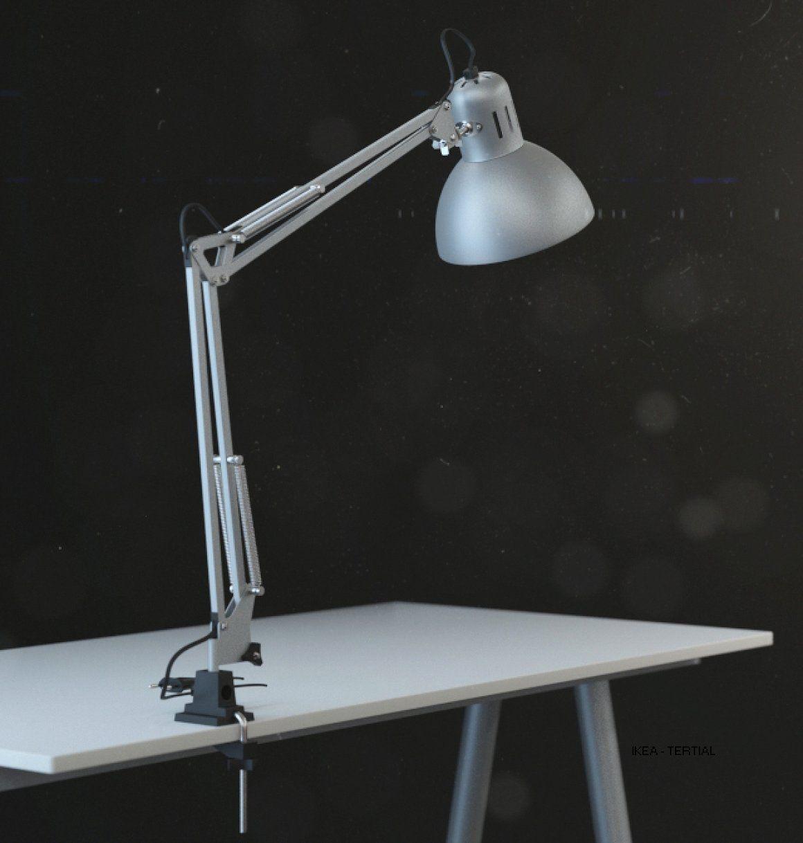Ikea Tertial Work Lamp 3d Model Ikea Tertial Lamp White Real