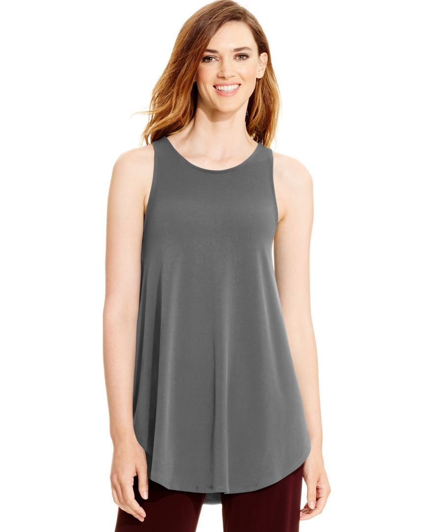 082c2d66c223c Alfani Racerback Jersey Tunic Tank, Only at Macy's   Products   Tops ...