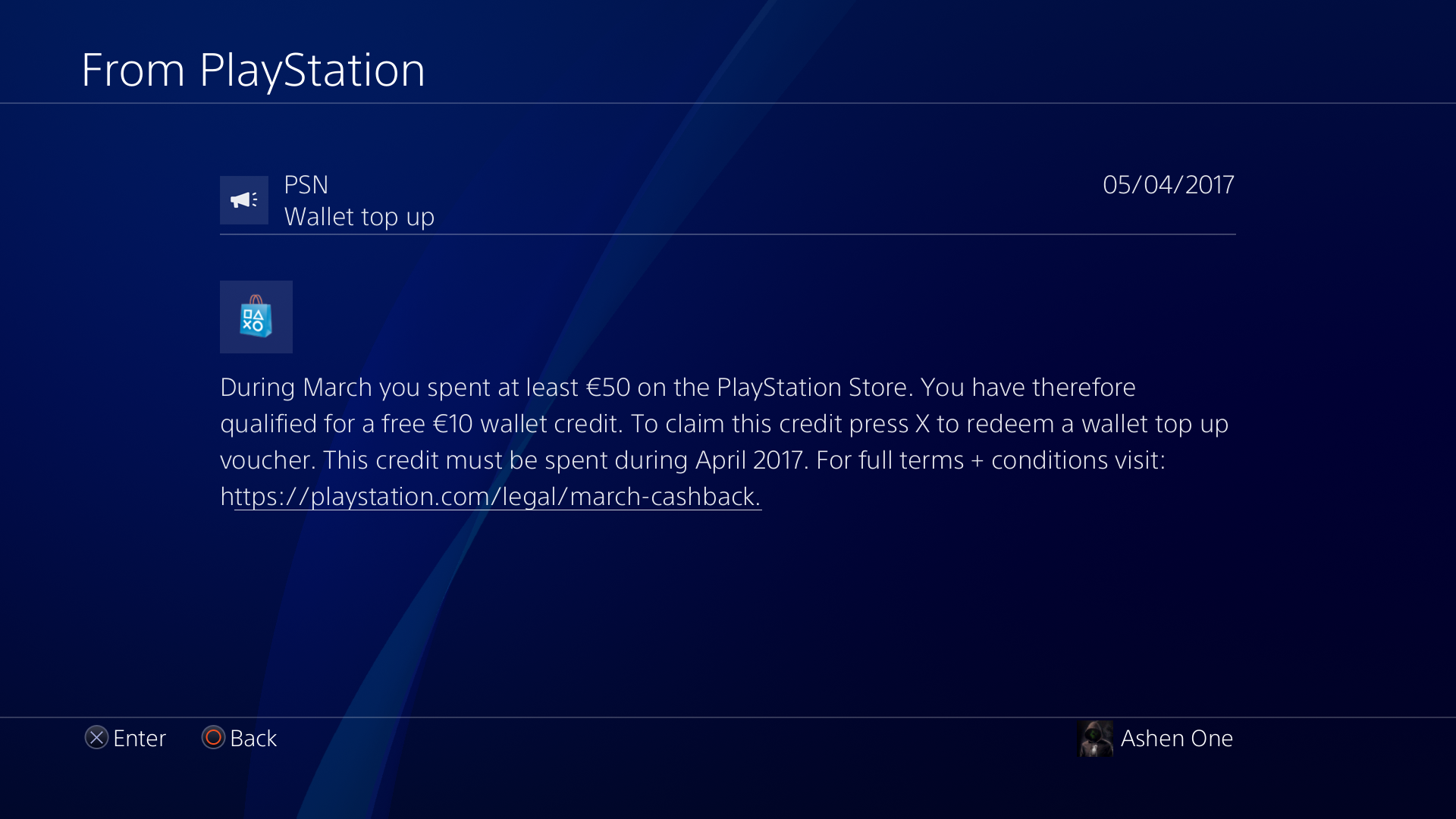 Sony Started Sending The Messages For The 10 Credit Back Offer Screenshot Eu Playstation4 Ps4 Sony Videogames Playstatio Messages Playstation Psn Sony