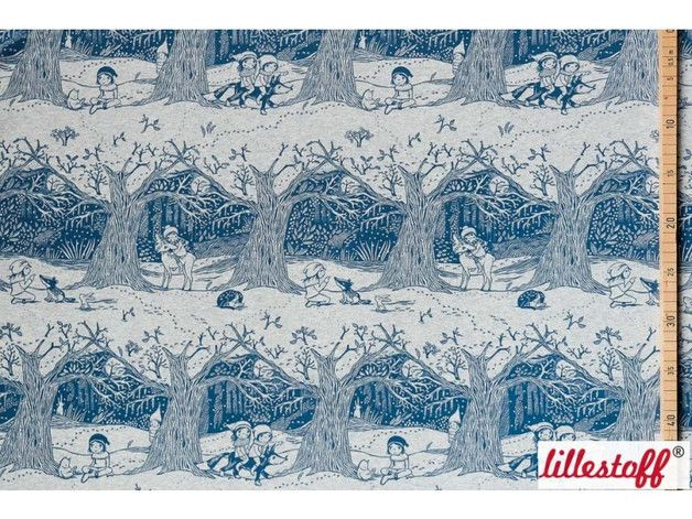 bio stoffe bio sweat winterwald lillestoff susalabim ein designerst ck von ella fabrics. Black Bedroom Furniture Sets. Home Design Ideas