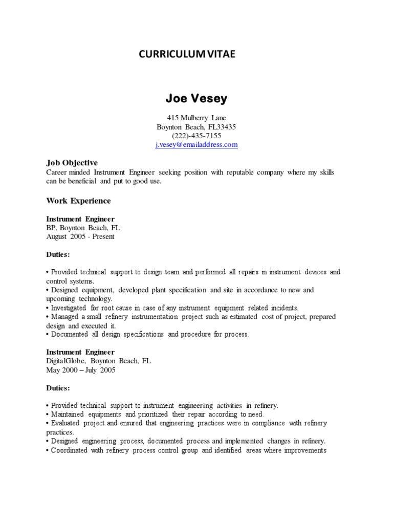 Formal Resume Template Mechanical Engineering Resume Sample Pdf Experienced Design