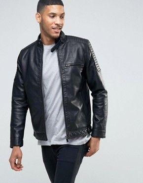 leather biker jacket mens asos blazers