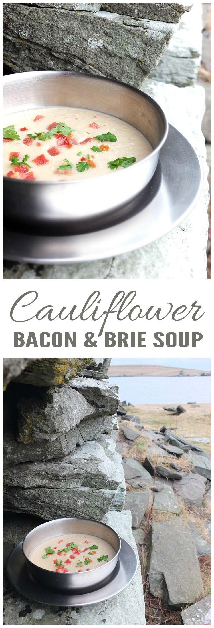 Cauliflower, Bacon & Brie Soup | Recipe | Cauliflower soup, Brie and ...
