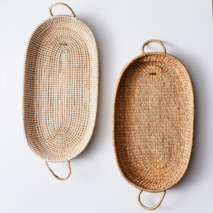 Handwoven Natural Seagrass Basket with Handles on Food52