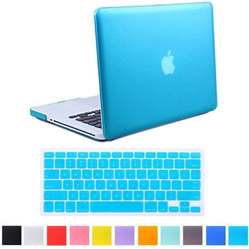 """HDE Frosted Matte Rubber Coated Hard Shell Clip Snap-On Case Cover for Macbook Pro 13"""" (A1278) + Matching Keyboard Skin (Blue), http://www.amazon.com/dp/B009IU9MAM/ref=cm_sw_r_pi_awdm_PxTGtb13E4EJ3"""