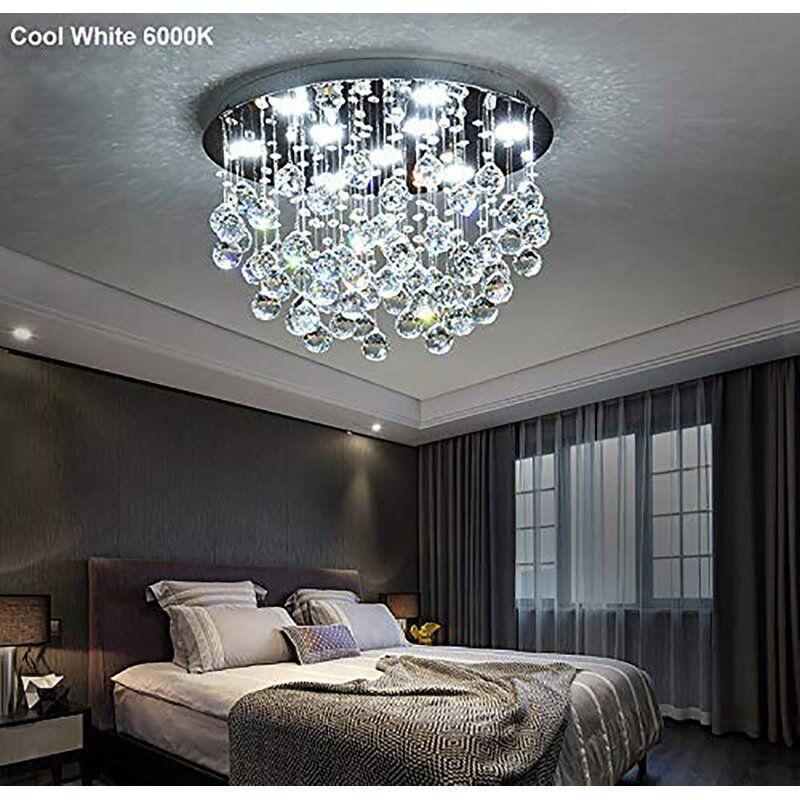 Lucrezia 9 Light 20 Unique Statement Tiered Flush Mount In 2020 Bedroom Ceiling Light Ceiling Lights Crystal Ceiling Light #unique #living #room #lighting