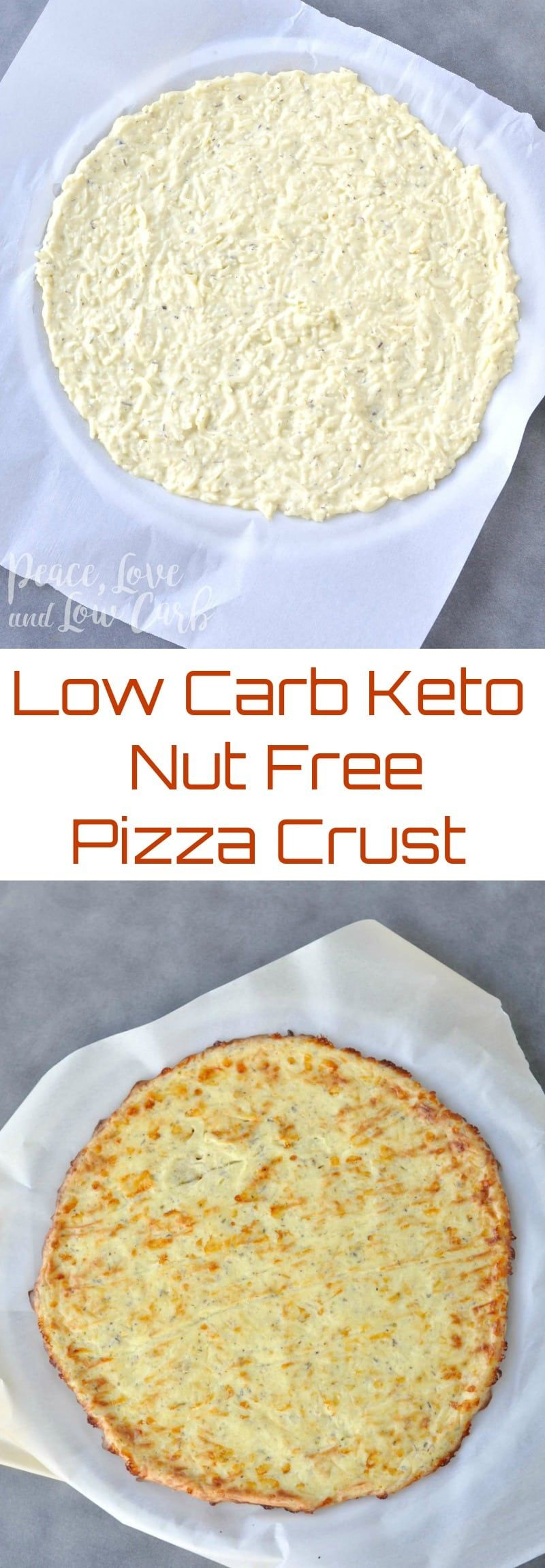 Low Carb Keto Nut Free Pizza Crust #lowcarbrecipes