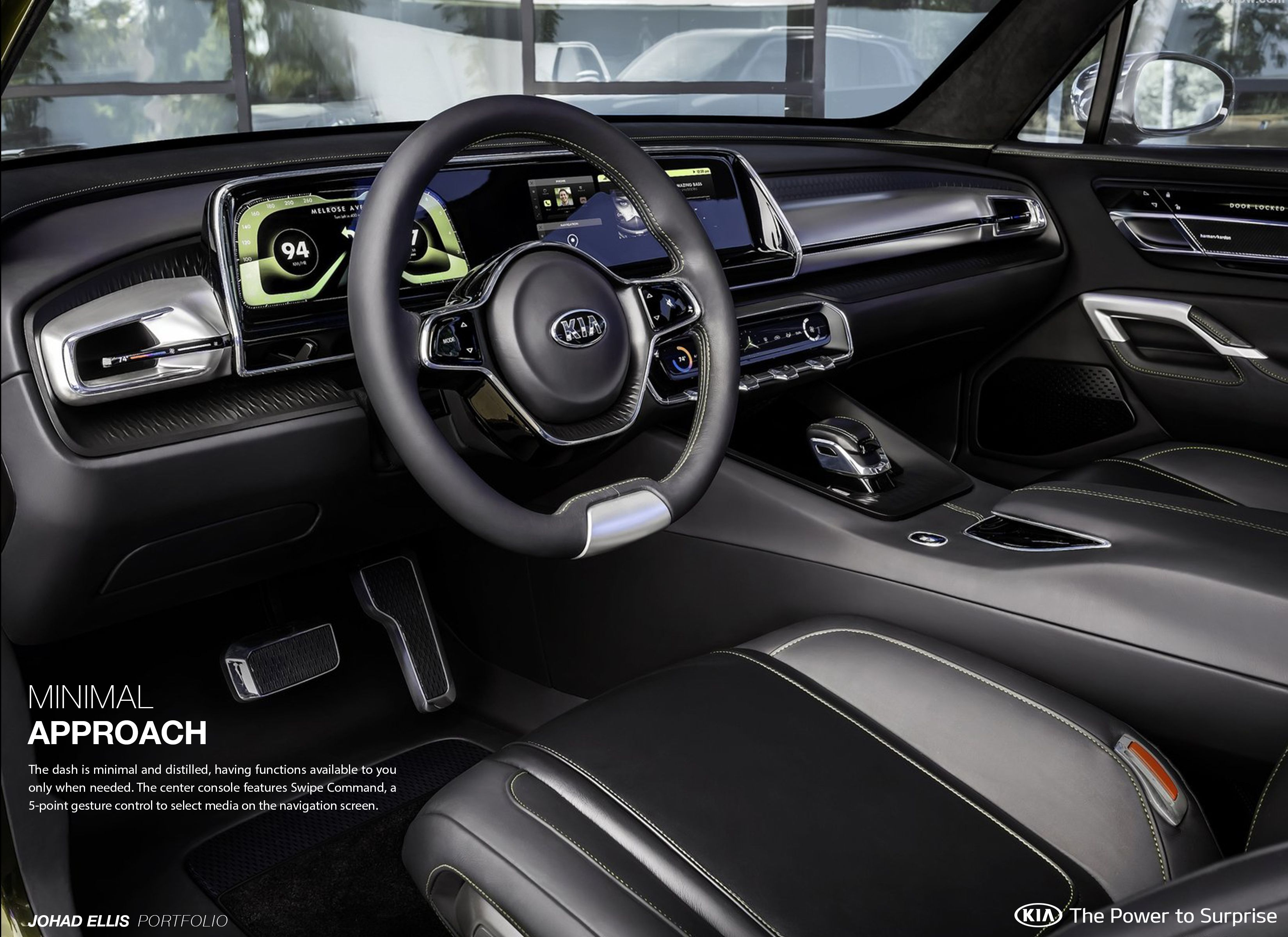 Design Lead For The Interior Of The Kia Telluride Concept Unveiled At The 2016 Naias In Detroit Car Interior Design Kia Car Interior