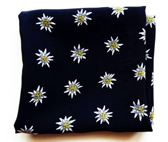 Silk edelweiss flowers choice image flower decoration ideas black vintage silk scarf with edelweiss flowers christian black vintage silk scarf with edelweiss flowers christian mightylinksfo