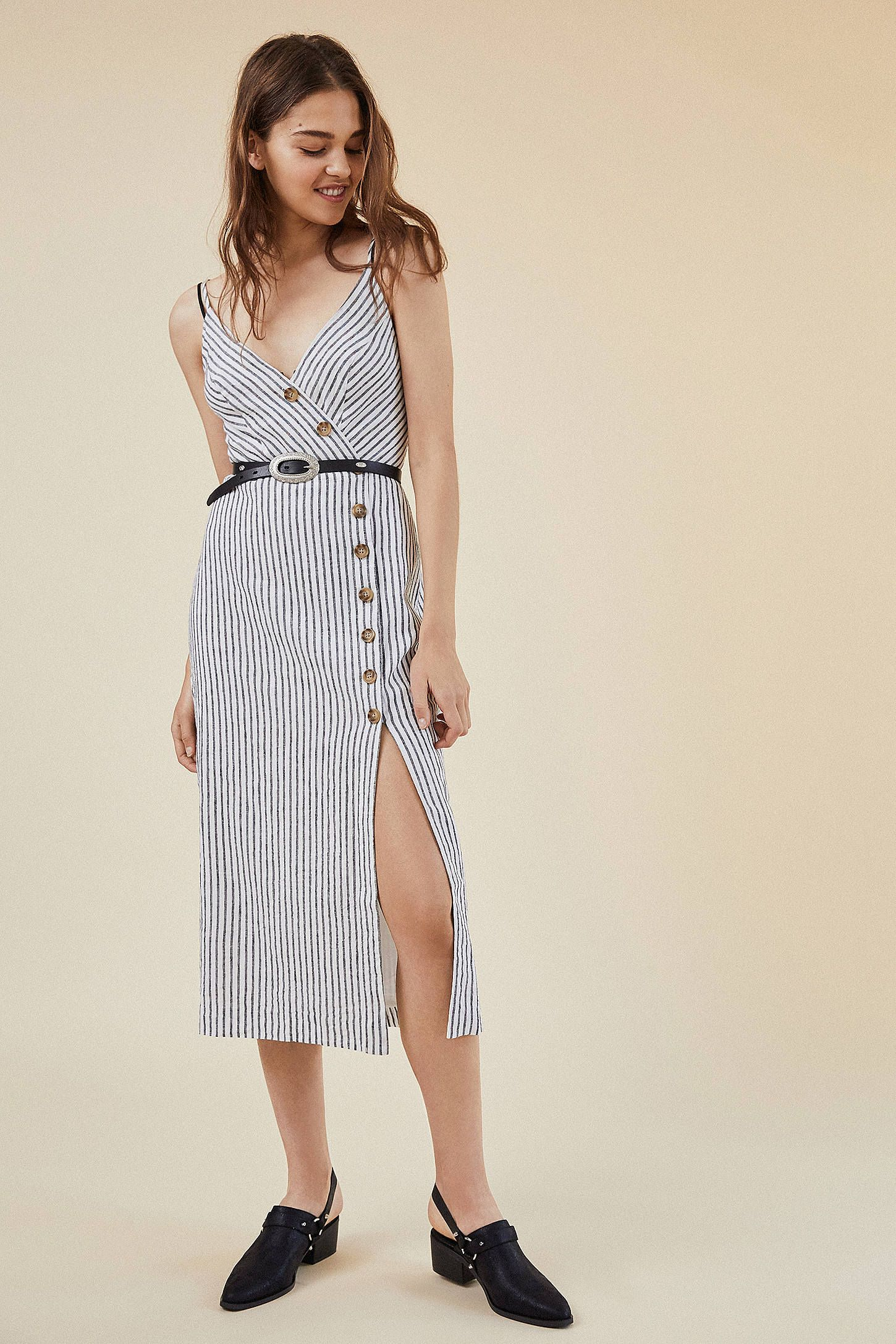 f751274f91 Shop UO Amber Button-Down Linen Midi Dress at Urban Outfitters today. We  carry all the latest styles
