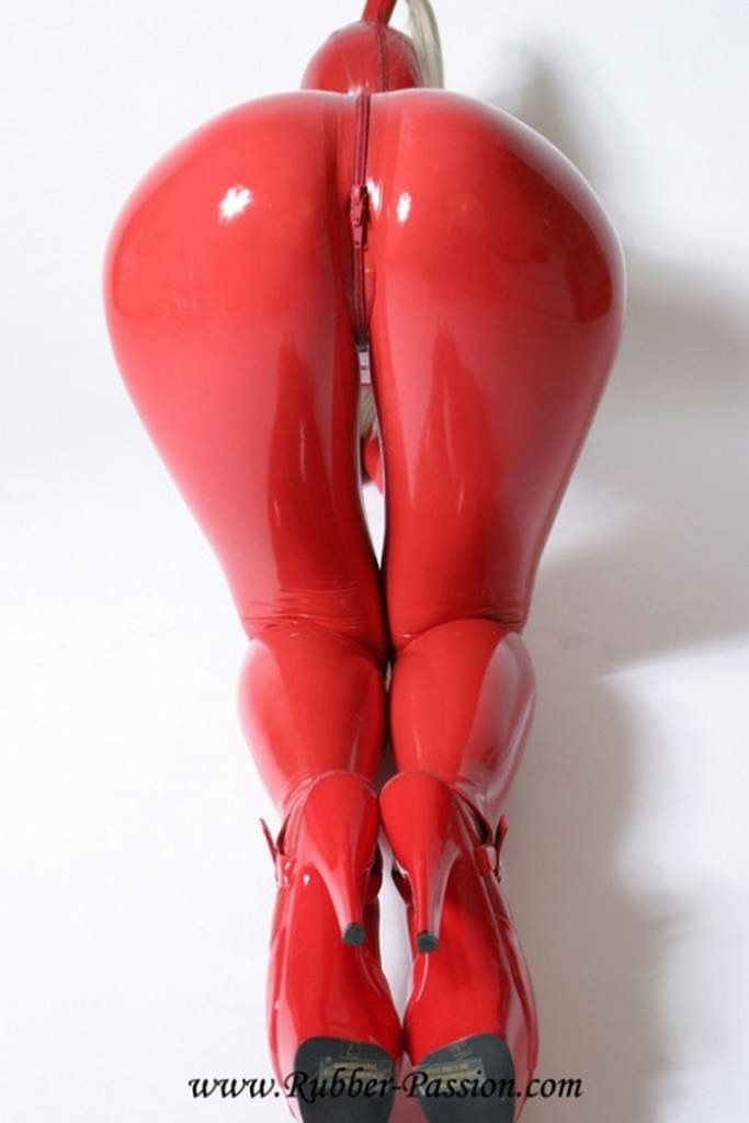 photo Latex double plastic boots femdom mature moms