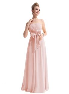 Affordable Hot Sell Ruched A-Line Strapless Sleeveless Floor-length Bridesmaid Dresses