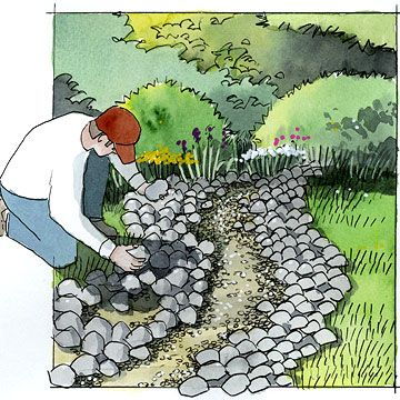 Update Your Garden with this DIY Dry Creek Bed