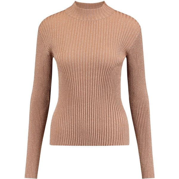 Markus Lupfer Rosie metallic ribbed-knit sweater (€93) ❤ liked on Polyvore