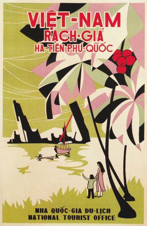 Viet Nam - National Tourist Office / Vintage Travel - Poster Art ...
