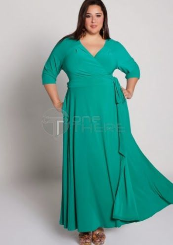 Vestidos de fiesta para gorditas en color verde