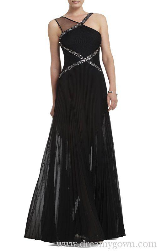 32b54907f6f8 Black Carolyne Contrast Knit BCBG Evening Gown Long,bcbg max azria dress, bcbg pleated dress,UK Cheap Sale,BCBG-BCBG Dress Long Discount, Sale: 100%  High ...