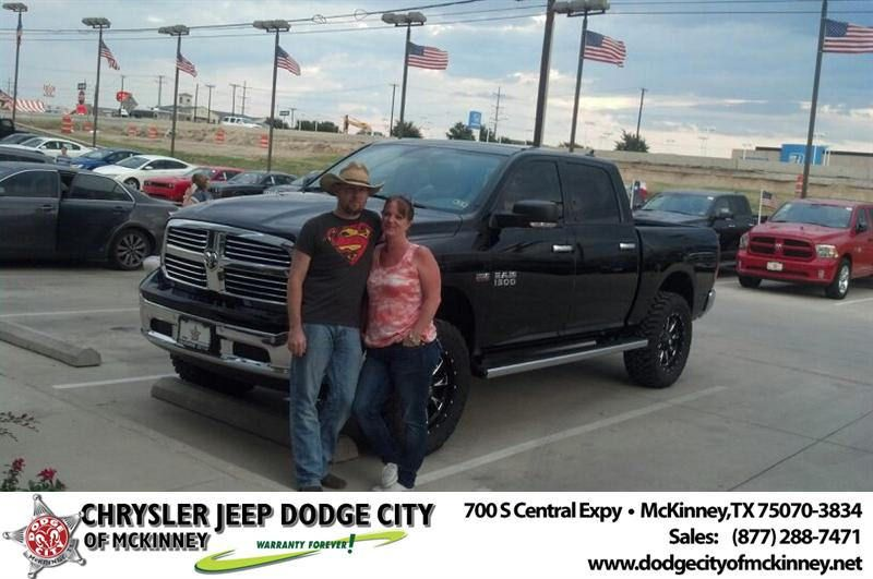 Congratulations To Johnny Yvette Willis On Your Ram 1500 Purchase From Bobby Crosby At Dodge City Of Mckinney Newcar Dodge City City Dodge