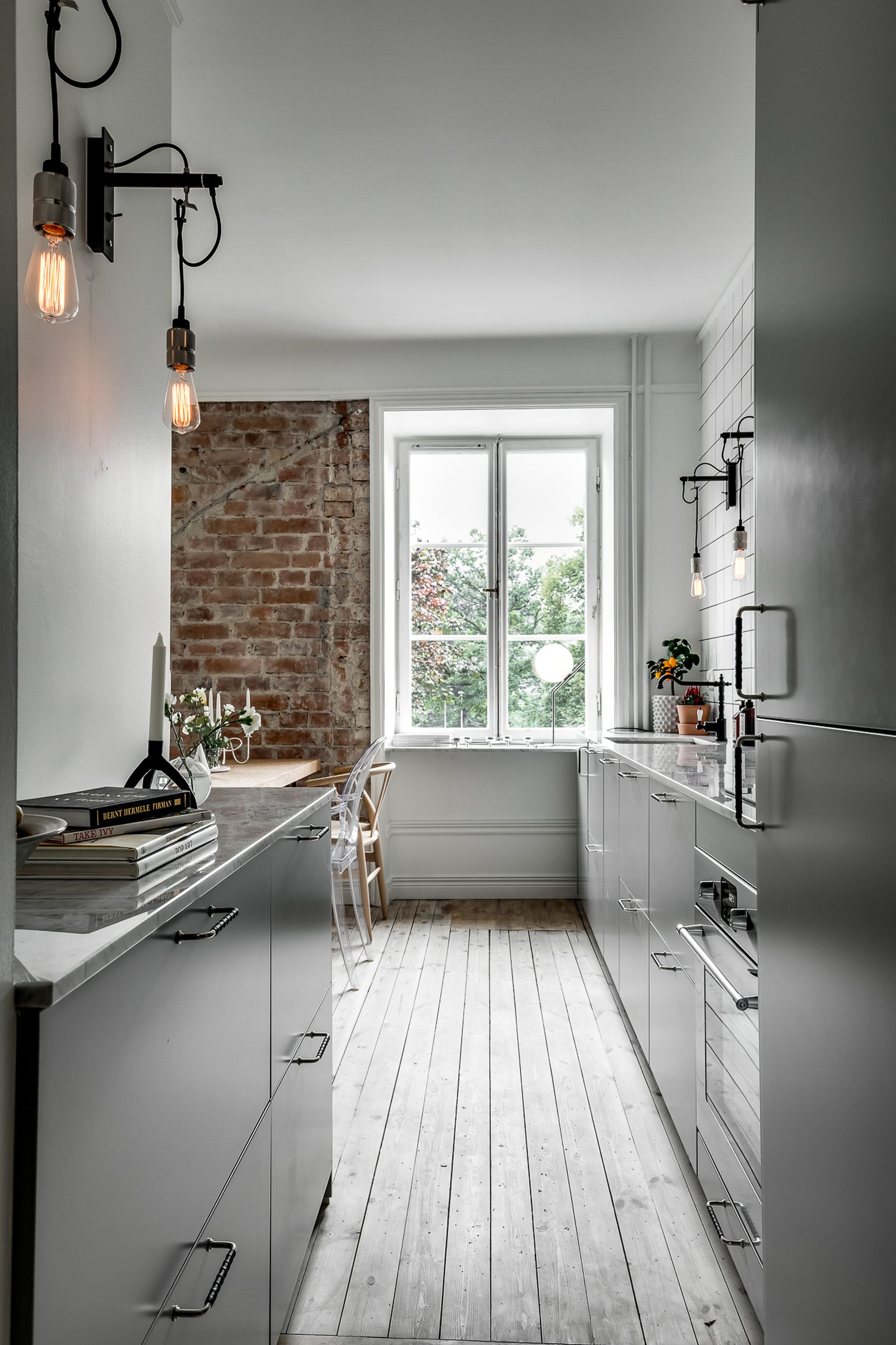 Minimal Kitchen With An Industrial Touch   Via Coco Lapine Design Blog