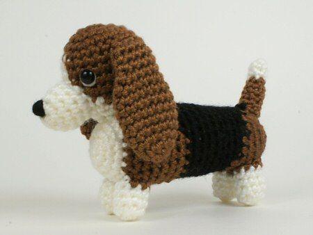 Amigurumi Dog Crochet Patterns : Pdf amidogs basset hound amigurumi dog crochet pattern basset