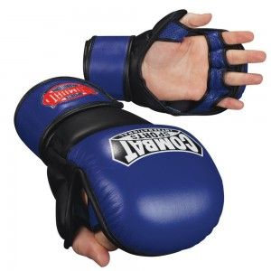 Combat Sports Blue MMA sparring gloves | Mma sparring gloves