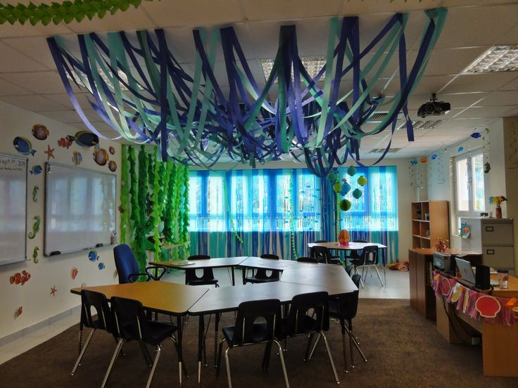 Classroom Ceiling Decoration Ideas : Ocean themed classroom the charming