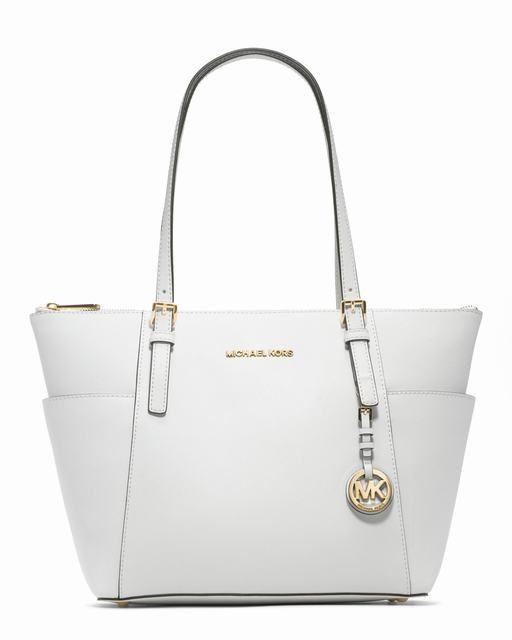 6a084f3753fa Michael Kors Jet Set-Top-Zip Saffiano Tote Weiß  #fashionbag#jewellery|#jewellerydesign}