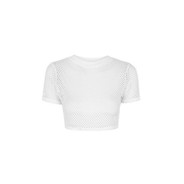 7637ccd3a8c TopShop Petite Airtex Crop Tee (36 AUD) ❤ liked on Polyvore featuring tops,  t-shirts, white, topshop, white crop top, white tee, white crop t shirt and  ...