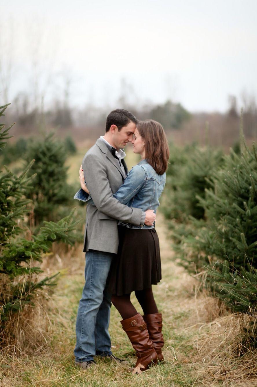 Christmas Tree Farm Romantic Photo Session Christmas Michigan