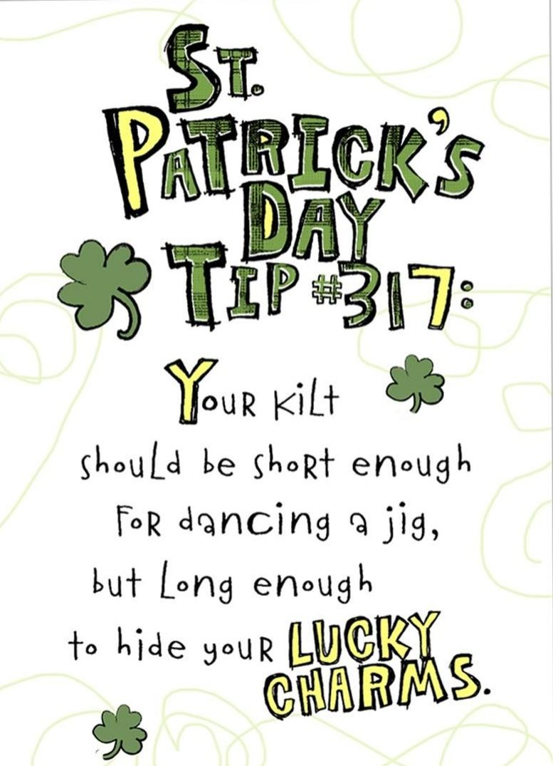 A funny tip from our friends at Shoebox. St patricks day