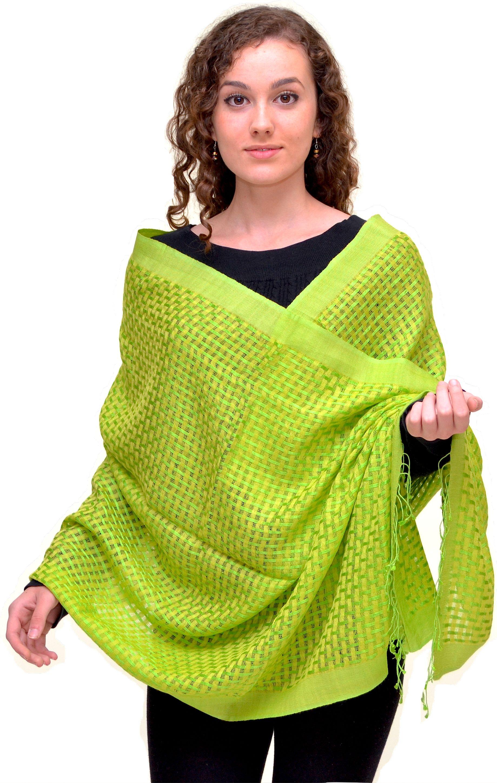 Green Pashmina http://www.homeofpashmina.com/designer-pashminas-basket-weave-c-4_11.html