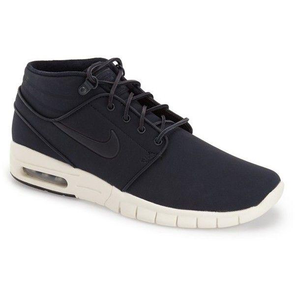 Nike 'Stefan Janoski Max SB' Skate Sneaker (€130) ❤ liked on Polyvore featuring men's fashion, men's shoes, men's sneakers, nike mens shoes, nike mens sneakers, mens sneakers, mens lightweight running shoes and mens shoes