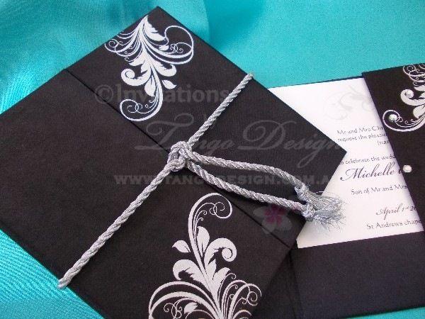 Hard cover wedding invitation pocket wrapped with satin fabric and hard cover wedding invitation pocket wrapped with satin fabric and printed swirl design by www stopboris Choice Image