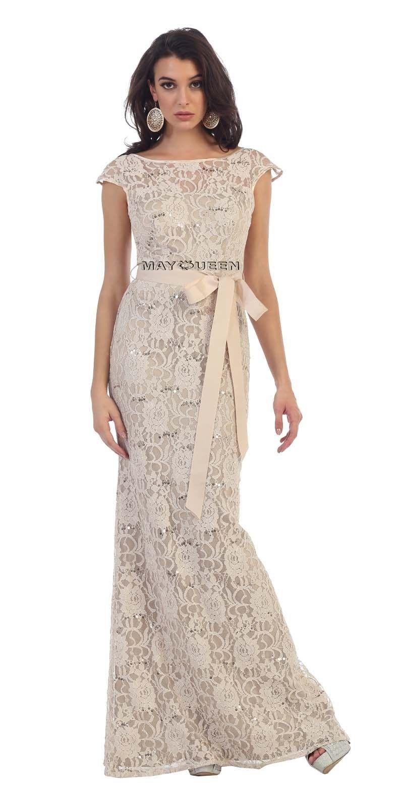 Long Lace Evening Dresses