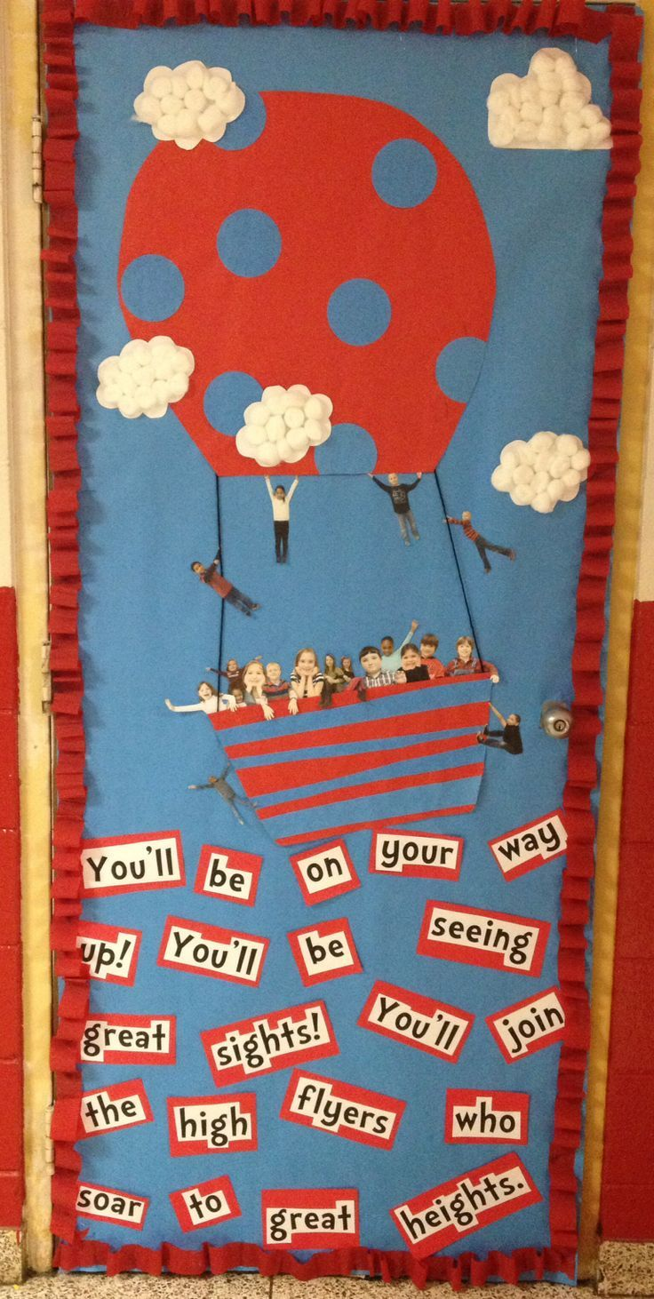 Dr seuss classroom door decoration abc 39 s and 123 39 s for Art book decoration ideas