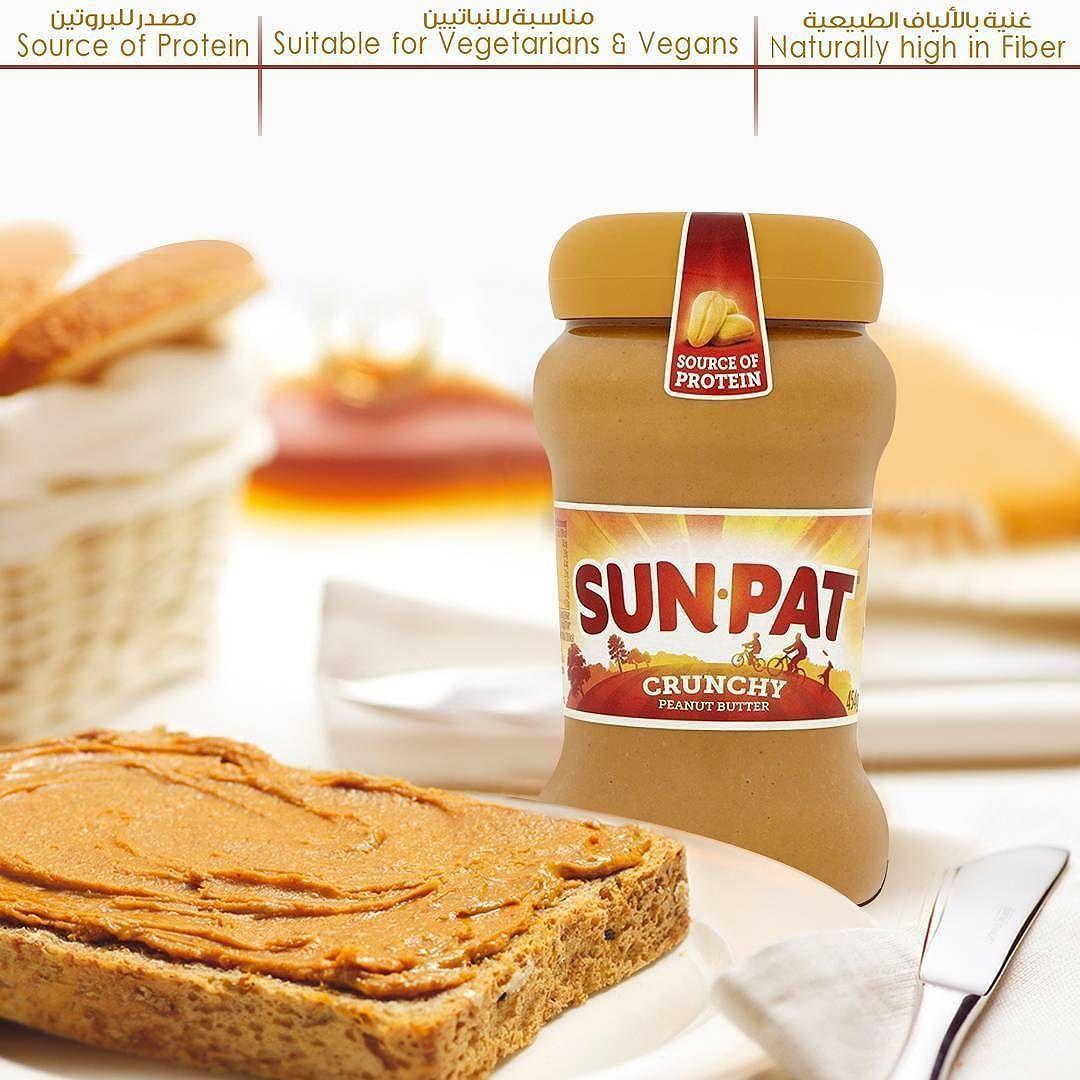 صن بات زبدة فول سوداني مقرمشة بالنكهة الأصلية متوفرة في سيفكو Sun Pat Original Crunchy Peanut Butter Available Peanut Butter Protein Sources Vegan Vegetarian